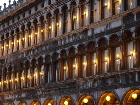 vecchie: Venice - The Procuratie         Stock Photo