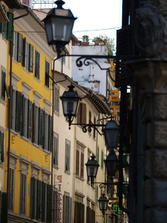 Picturesque street in Florence     photo