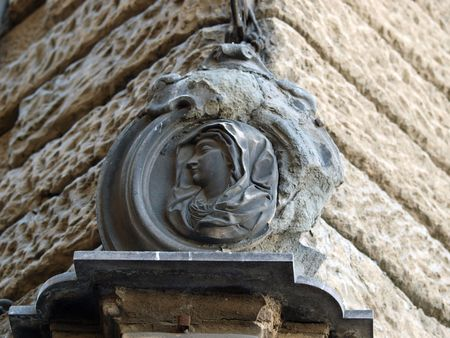 Adorable detail from street of Florence          photo