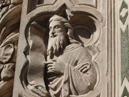 Detail from Duomo facade - Florence        photo