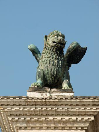 chimera:  Chimera Sculpture on the Piazetta - Venice