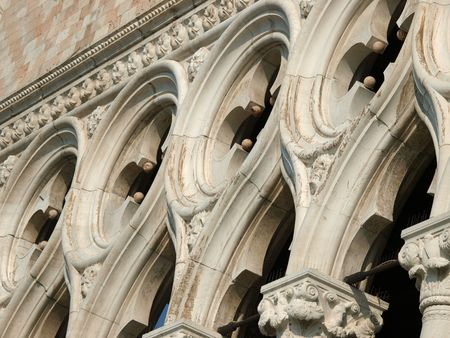 doges  palace:  Venice -traceries from the Doges Palace        Stock Photo
