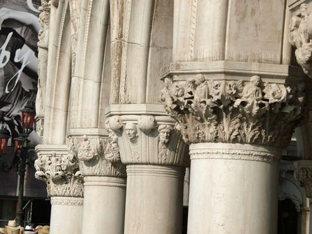 doges  palace:  Venice - Doges Palace - The capitals of the columns