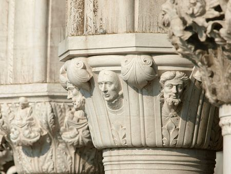 doges: Venice - Doges Palace - The capitals of the columns