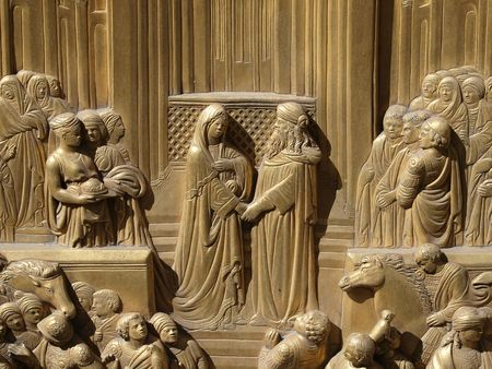 queen of sheba: Baptistery - Florence . The door of paradise Stock Photo