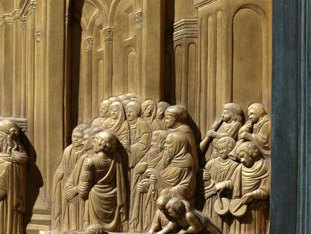 Baptistery - Florence . The door of paradise Stock Photo - 5796156