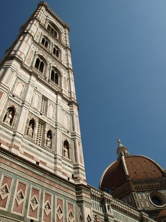 lucca:    View of theGiottos bell tower - Florence    Stock Photo