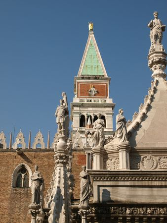 doges: The Courtyard of the Doges Palace in Venice