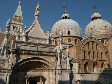 doge's palace:  The Courtyard of the Doges Palace in Venice