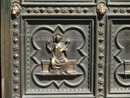 histories: Florence Baptistery - South Portal by Andrea Pisano- 1336. Histories of St John the Baptist