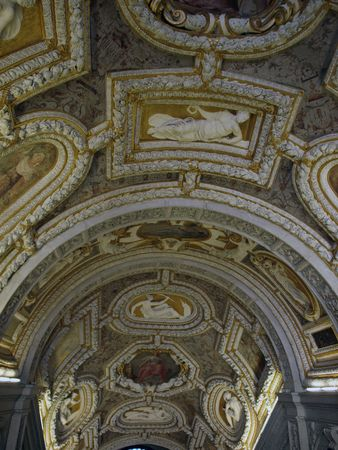doges  palace: Picture of a decorated Ceilings in the Doges Palace Venice    Stock Photo