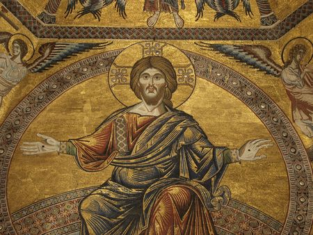 byzantium:   Baptistery of Florence - View of the mosaic ceiling