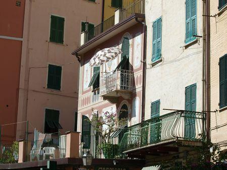 Riomaggiore - one of the cities of Cinque Terre in italy      Stock Photo - 6050449