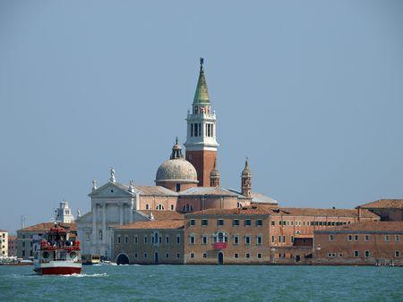 pilaster: San Giorgio Maggiore is a basilica in Venice, Italy designed by Andrea Palladio and located on the island of San Giorgio Maggiore.      Stock Photo
