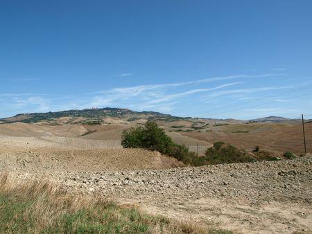 harvests: Tuscany - Landscape after harvests