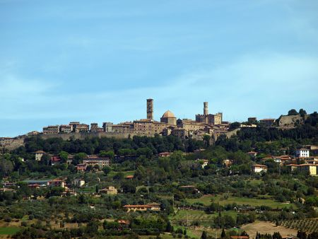 volterra: View of medieval city of Volterra Tuscany Italy  Stock Photo