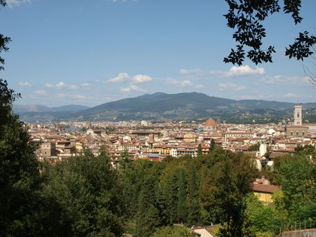 vechio: View of Florence from the Boboli Gardens