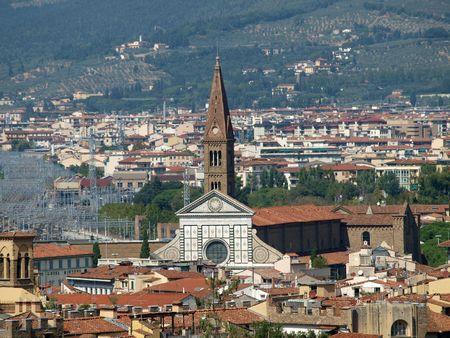 vechio: Florence -The  Santa Maria Novella seen  from the Boboli Gardens