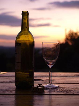 Good wine makes a beautiful sunset photo