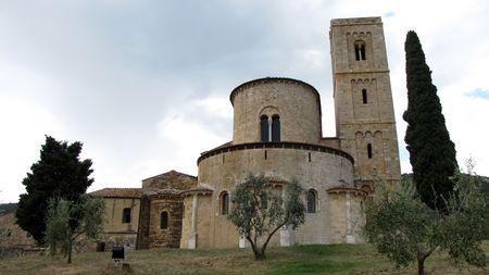 Sant Antimo Abbey near Montalcino in Tuscany, Italy. Stock Photo - 6924663