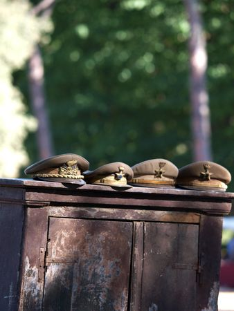 fas: old military hats