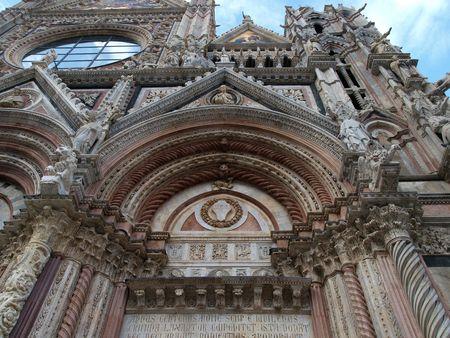 Siena - Duomo, Details of the western facade