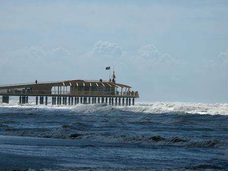 lido: Lido di Camaiore - modern pier  Stock Photo