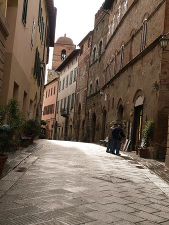 montepulciano: morning in the Tuscan town Stock Photo