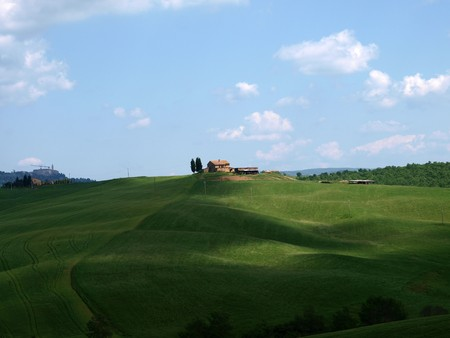 valdorcia: The landscape of the Val d�Orcia. Tuscany. Italiy