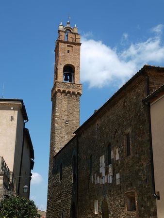 agriturismo: Medieval Town In Montalcino Tuscany, Italy Stock Photo