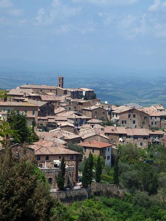 Montalcino - old architecture and fine wine photo