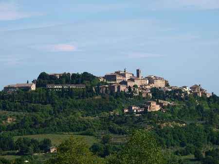 montepulciano: Panoramic View Of Montepulciano ,Tuscany, Italy. Stock Photo