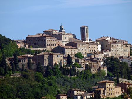 Panoramic View Of Montepulciano ,Tuscany, Italy. photo