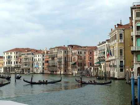 Venice - Exquisite antique buildings along Canal Grande Stock Photo - 7613083
