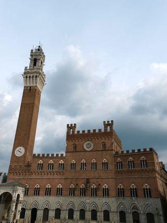palazzo: Siena - Palazzo Pubblico and Torre del Mangia.