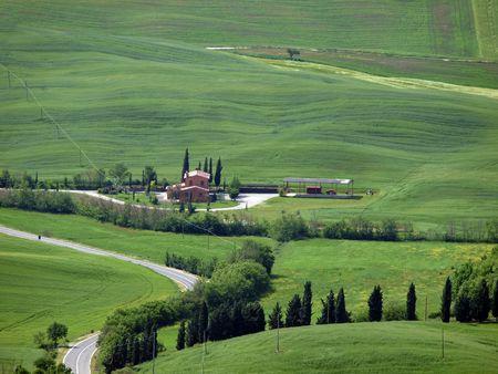 The landscape of the Val dOrcia. Tuscany. Italiy photo