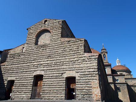 Florence - raw facade of the San basilica Lorenzo