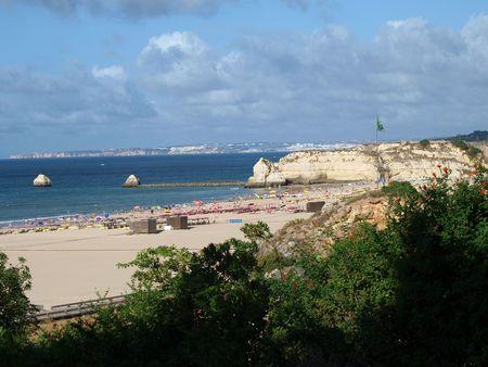 praia:  Beach of Praia da Rocha in Portimao, Algarve, Portugal Stock Photo