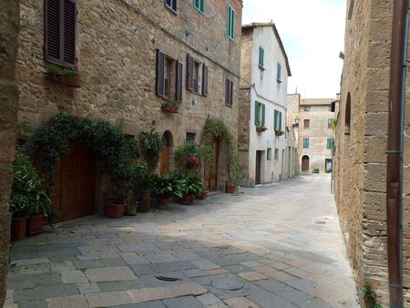 The town of Pienza is a small pearl in the Tuscan countryside. photo