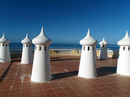 overlooking: Fairy Chimneys on the terrace overlooking the sea