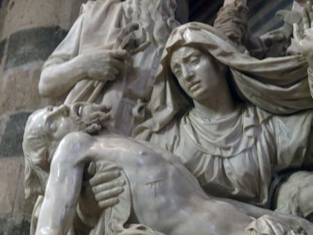corporal: Orvieto - Duomo interior. Pieta was sculptured from a single block of marble by Ippolito Scalza between 1570 - 80 Editorial