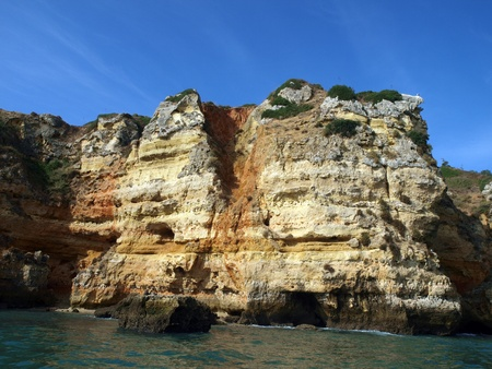 Picturesque Alagarve coast between Lagos and the Cap Vincent photo