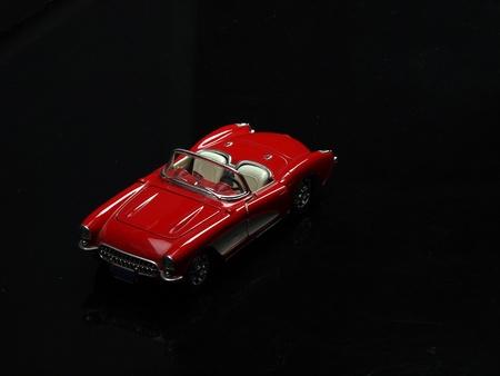 old red cabrio photo