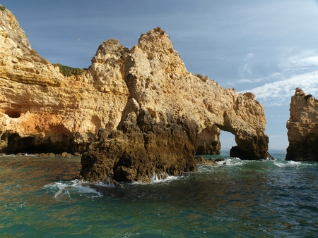 vilamoura: Picturesque Algarve coast between Lagos and the Cap Vincent Stock Photo