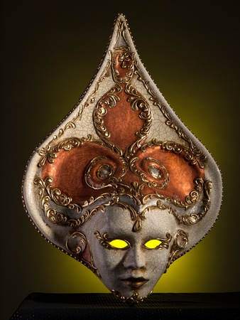 magical-looking old Venetian mask photo