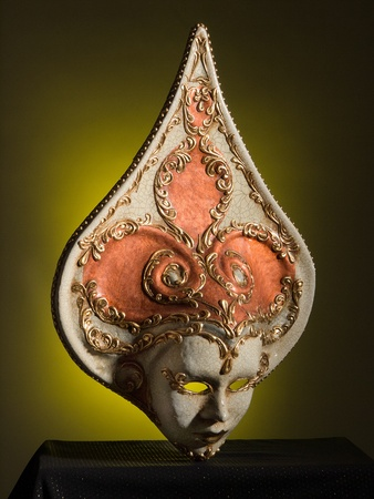 magical-looking old Venetian mask photo
