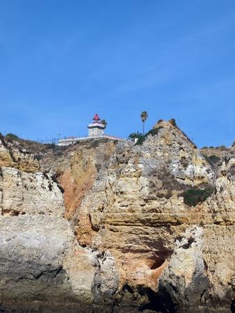 Picturesque Algarve coast between Lagos and the Cap Vincent photo