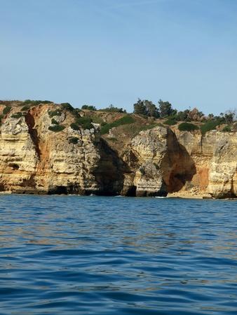 vilamoura: Picturesque Algarve coast between Lagos and the Cap Vincent Stock Photo