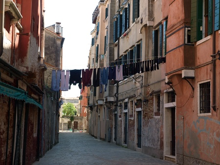 Venice - peaceful and charming district of Dorsoduro photo