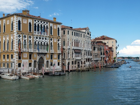 Venice - Canal Grande and  Cavalli Franchetti palace photo